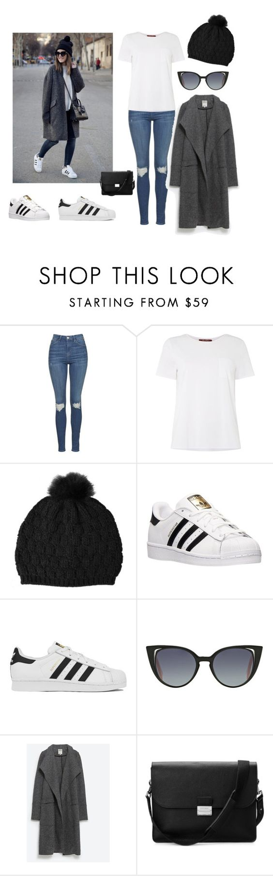 """Winter"" by annamcevoy-i ❤ liked on Polyvore featuring Topshop, MaxMara, Dolce&Gabbana, adidas, Fendi, Zara and Aspinal of London"