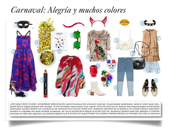 """""""Carnaval"""" by katarias ❤ liked on Polyvore featuring The Gypsy Shrine, Roberto Cavalli, Dolce&Gabbana, Edit, Bobbi Brown Cosmetics, Ultimate, Lime Crime, Balmain, Isabel Marant and Avenue"""