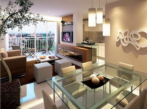 sala de estar e jantar integrada - Pesquisa Google