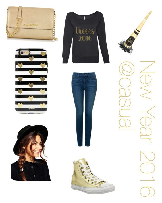 """""""New Year 2016"""" by tojourneym ❤ liked on Polyvore featuring NYDJ, Converse, Michael Kors, Sonix and ASOS"""