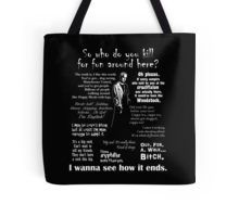 Spike in his own words (white) Tote Bag
