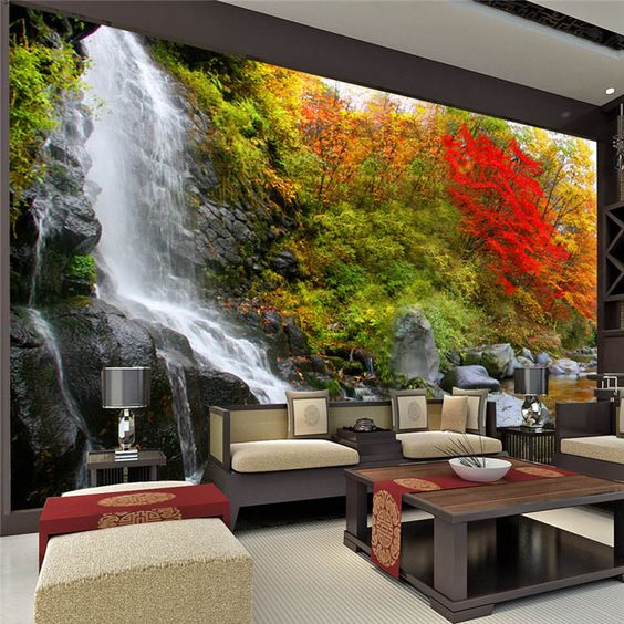 Wholesale 3d wall mural for background wall wallpaper for 3d wall mural pictures