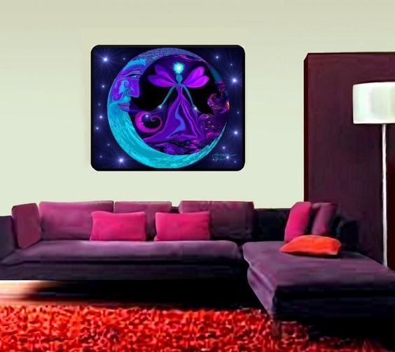 """Psychedelic Tapestry, Healing Chakra Wall Decor, Meditation Room """"The Mystic"""" 40"""" x 50"""""""