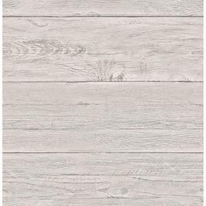 Nuwallpaper Off White Shiplap Peel And Stick Wallpaper Nu2187 The Home Depot Gray Shiplap Wood Wallpaper White Wash