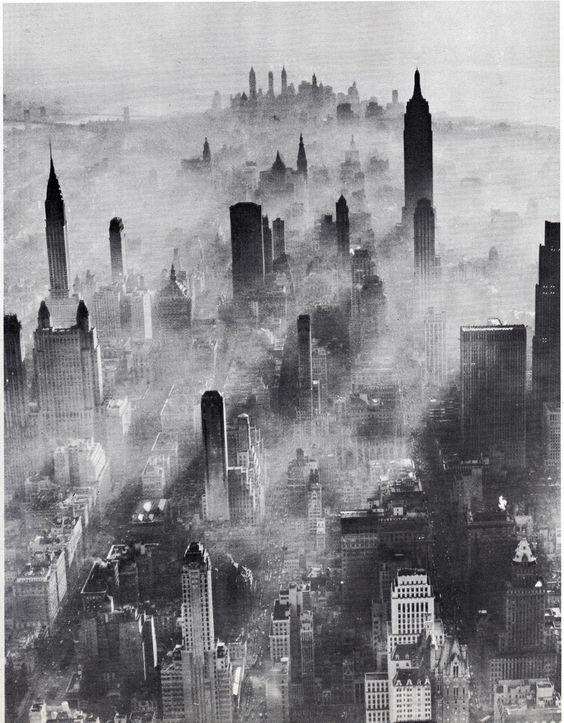 Manhattan fog, July 1943.