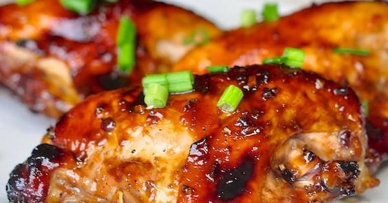 I used a combo of skinless boneless chicken breasts and thighs. Doubled the marinade recipe. Marinated over night. The marinade ended up pretty thin so I added additional honey and