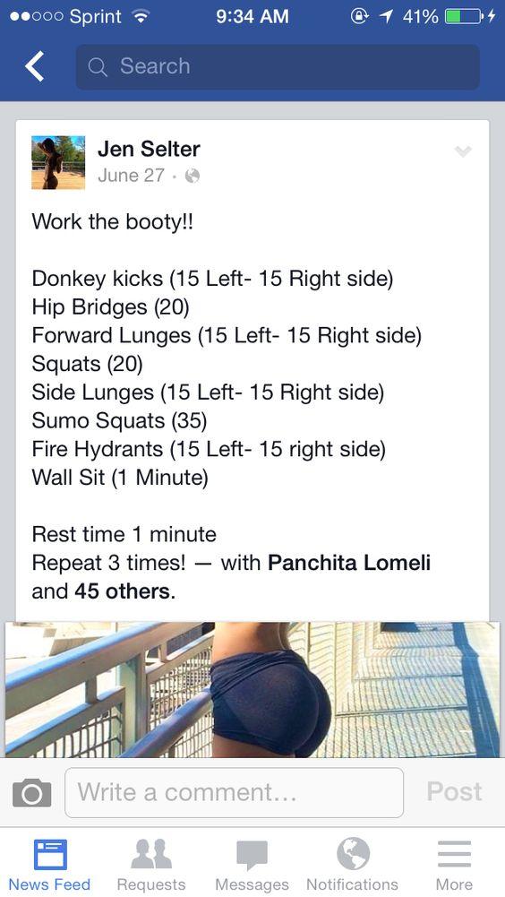 Jen selter butt workout