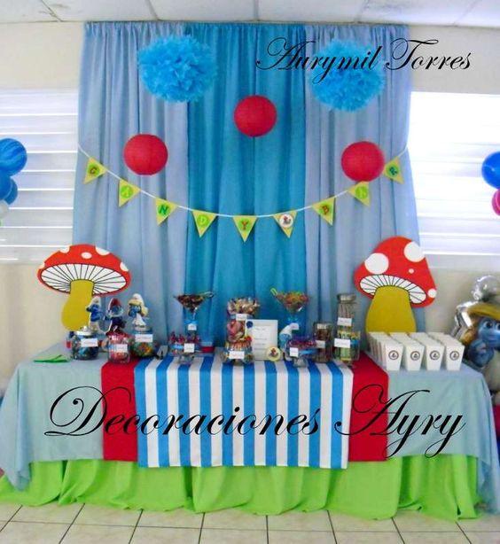 Candy Bar Los Pitufos | CatchMyParty.com