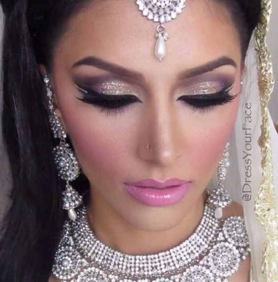 C Makeup and CO. inspiration bridal board. Arabic and Indian brides are beautiful: