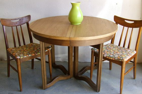 Mid Century Modern Table & Chairs refinished