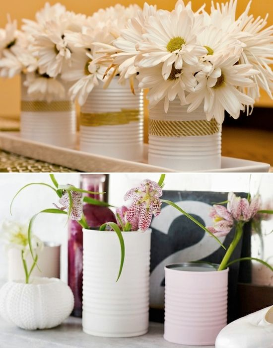 Vase ideas cheap vases and centerpieces on pinterest for Inexpensive wedding centrepieces