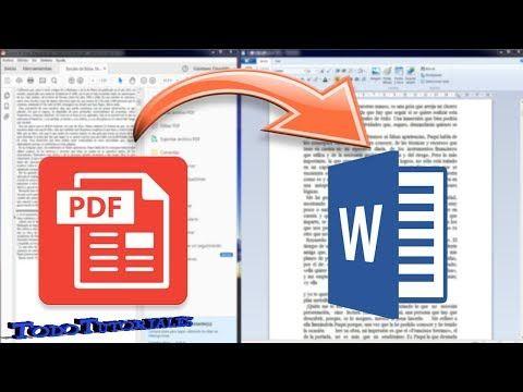 Como Convertir Pdf A Word Online Paso A Paso Tutorial Chvere Youtube Office Word Excel Y Words