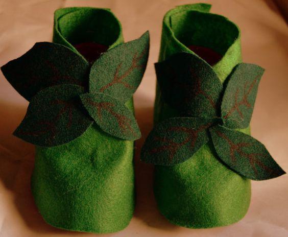 Zapatos de hada del bosque por CucitoEBottoni en Etsy