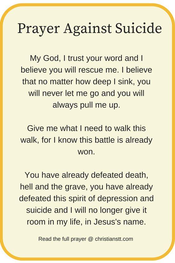Prayer Against Suicide