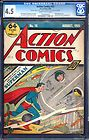 Action Comics 15 CGC 45 Golden Age Key Book 5th Superman Cover Holy Grail LK