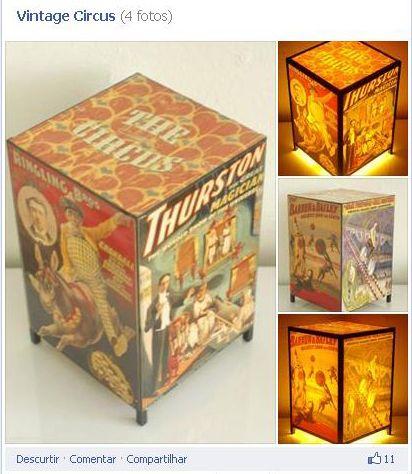 Luminária Circo Vintage