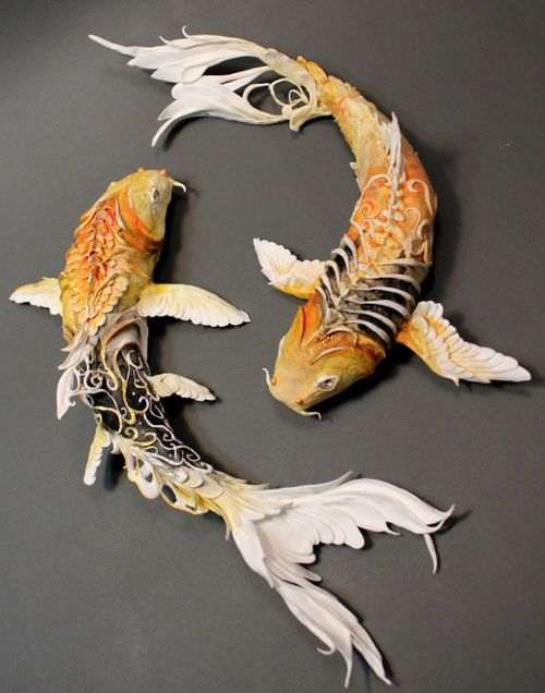 Pinterest the world s catalog of ideas for Koi fish figurines