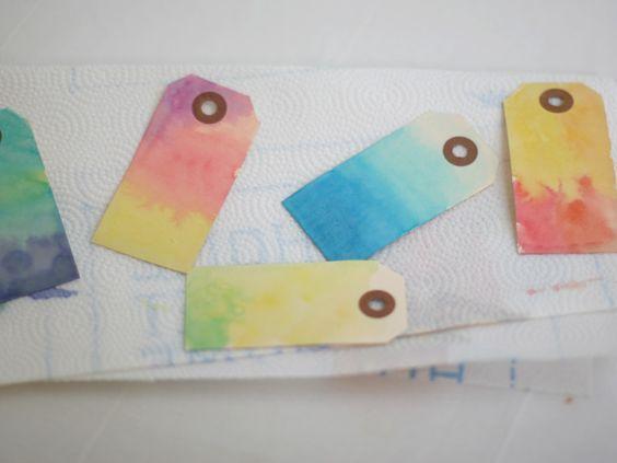 DIY: Watercolor Gift Tags + Watercolor Tips