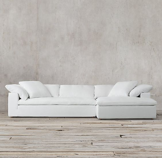 In Army Duck fabric (Fog or Taupe color). Preconfigured Cloud Track Arm Right-Arm Sofa Chaise Sectional | home | LIVING ROOM | Pinterest | Living rou2026 : sectional couch hardware - Sectionals, Sofas & Couches