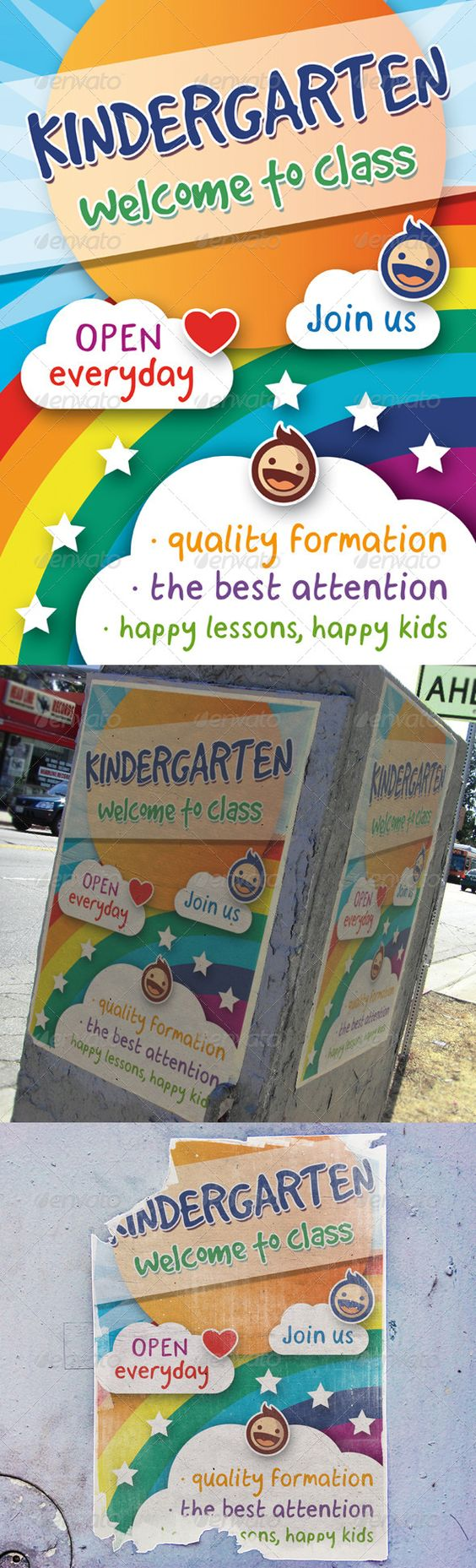 kindergarten flyer template kid typography and flyer template kindergarten flyer template