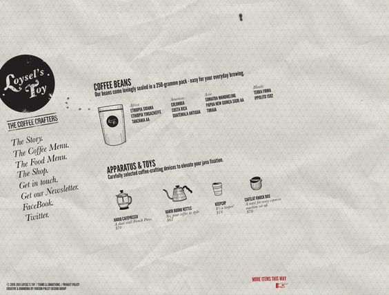 Loysel's Toy - the Coffee Crafters - http://www.loyselstoy.com | Designer: Foreign Policy - http://foreignpolicydesign.com