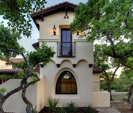 This spanish hacienda style home mixes the simplicity of a tuscan design with the elegance of a - Elegant colonial architectural designs ...