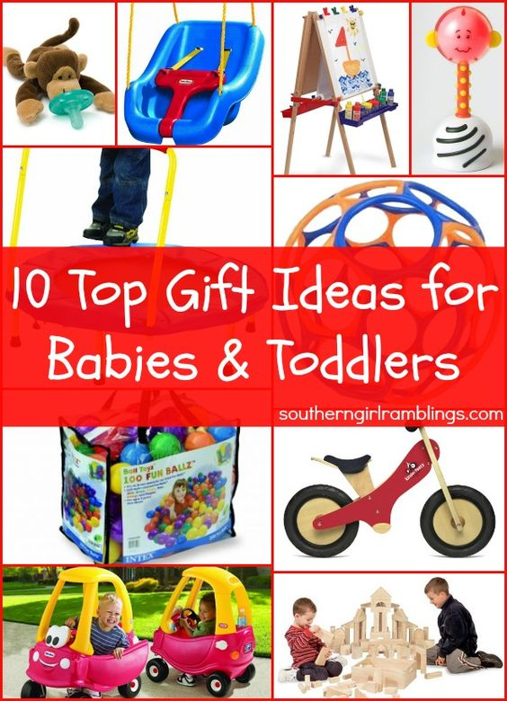 10 Top Gift Ideas for Babies & Toddlers #babies #christmas #gifts
