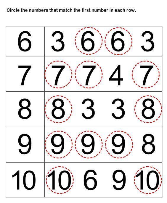Number Names Worksheets Number Matching Worksheets Free
