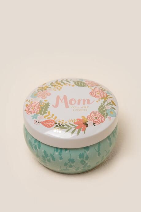 Mom You are Loved Floral Tin Candle $10.00