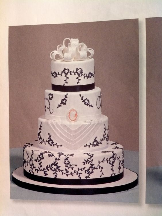 super classy! by Tina Stepp in Modern Wedding Cakes 9th edition