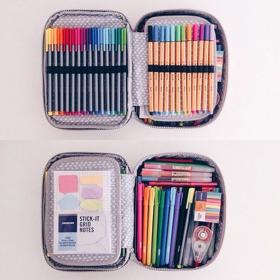 what's in my pencil case [pt 1] - requested - An overview of my pencil case! (I use the Kipling 100 pens case !):