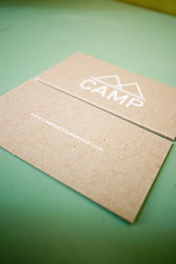 Cardboard Business Card. By Camp Design Group #campdesigngroup