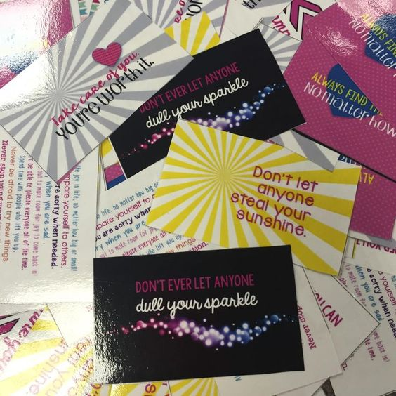 Positive Quote Cards - give to someone who needs a smile!  Business Card Size for easy printing.  Two types of files included: -all on one page for easy printing and laminating at school -separate files to send to a printer or to upload on vistaprint or other online printing website
