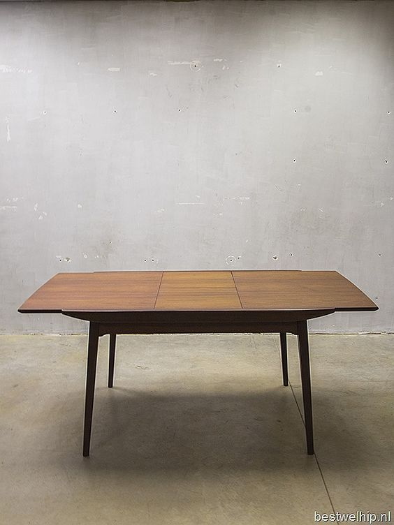 Webe vintage design dining table dinner table Louis van Teeffelen eetkamertafel loft retro tafel