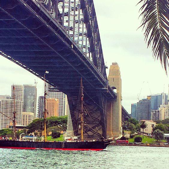 Sailing under the Sydney Harbour Bridge... #sydneyharbourbridge #sydney #ship by jcconduit http://ift.tt/1NRMbNv