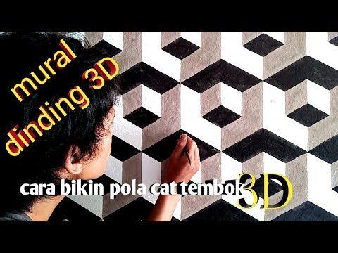 Mural Dinding Motif Balok 3d Cara Bikin Pola Cat Dinding 3d Youtube Mural Mural Dinding Ide Ruang Keluarga