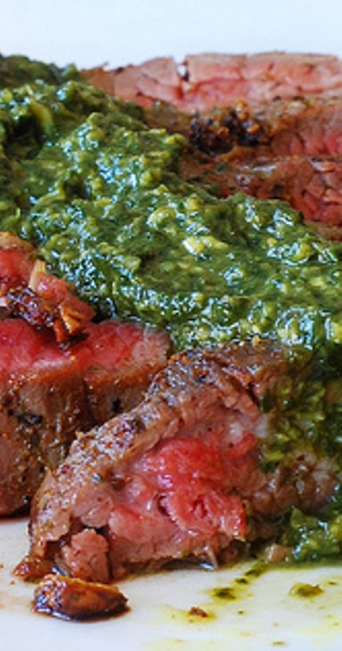 with chimichurri sauce cowboy steak with chimichurri sauce pan seared ...