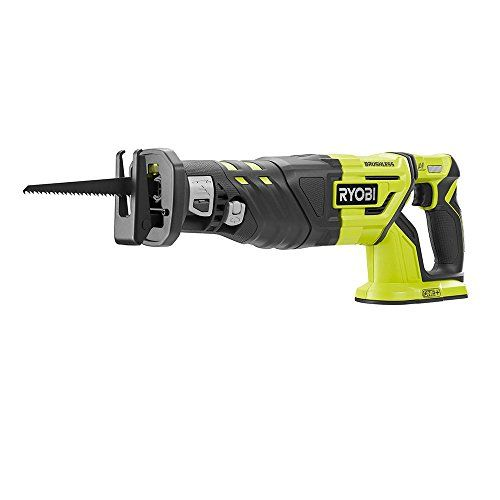 Ryobi P517 18v Lithium Ion Cordless Brushless 2 900 Spm Reciprocating Saw W Anti Vibration Handle And Tool Less Blade Changing Battery With Images Ryobi Reciprocating Saw