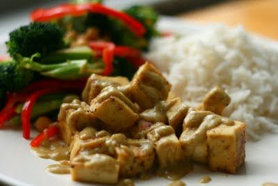 Sauteed Tofu with coconut-almond-curry sauce | Recipes | Pinterest ...