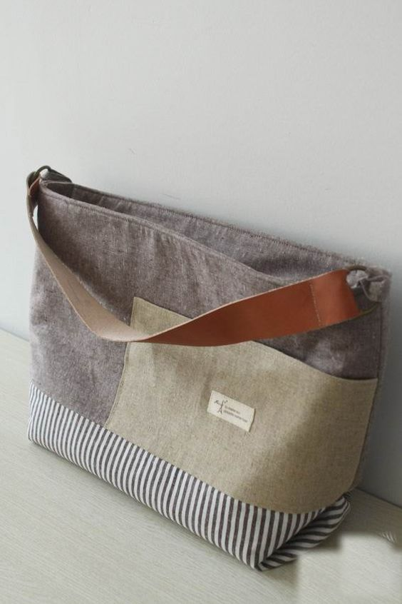 Fabric handbags, Linen fabric and Cotton linen on Pinterest