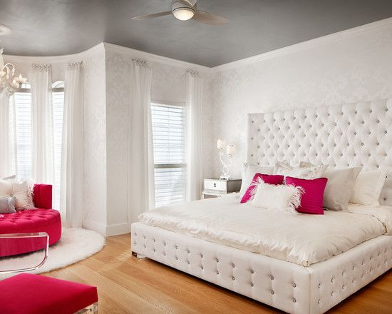 Girly Furniture Ideas Looks Perfect as Cute Teenage Girl Bedrooms Design: Cute  Teenage Girl Bedrooms White Bed White Top Ceiling Curtain Red Sofa W ...