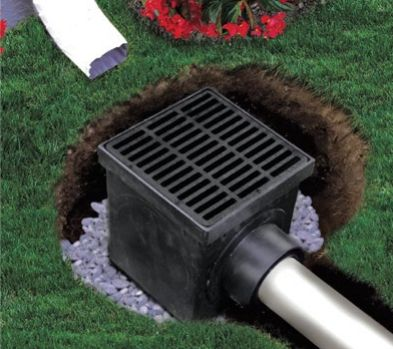 """NDS catch basins and grates collect surface water while minimizing the amount of debris entering the system. Available in a range of sizes from 6"""" round to 24"""" square, and with various grating and filter options for commercial and residential systems."""