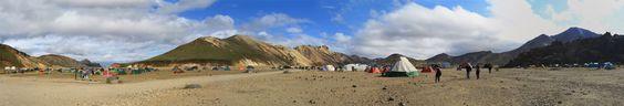 Campement de #Landmannalaugar en #Islande #TraceTaRoute #Iceland #Voyage #Travel #Landscape #Paysage