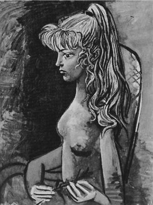 Pablo Picasso Lithograph Sylvette au Fauteuil