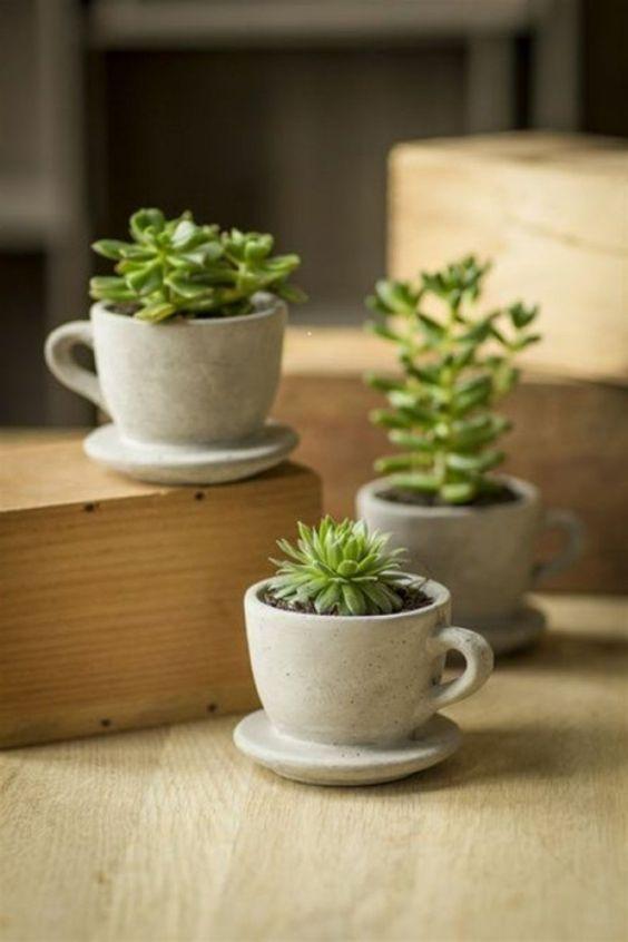 Blumentöpfe aus Beton selber machen | Gestalten | Pinterest ...
