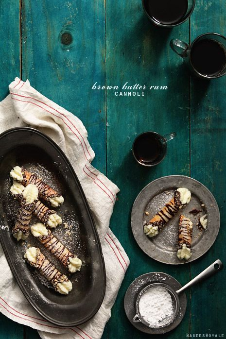 Brown Butter Rum Cannoli by Bakers Royale