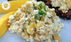 Eier- Mango- Hüttenkäse Salat | FITNESS-DESSERT.DE