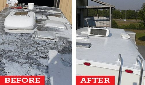 Repairing Your Camper With Rubber Roof Will Be The Best Choice Rv Roof Repair Rv Trailers Travel Trailer Remodel