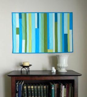 seaglass art quilt aqua teal turquoise