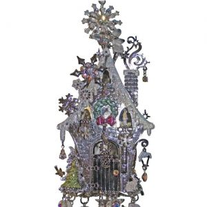 fairy wind chimes | Winter Fairy House Wind Chime: Kirks Folly Online Web Store